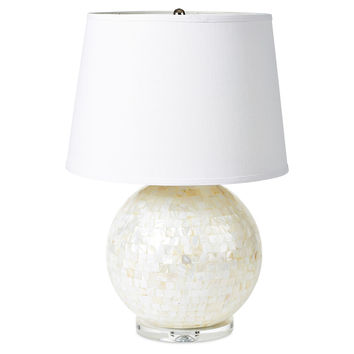 Polka-Dot Penguin Exclusives   mother of pearl orb lamp $285.00